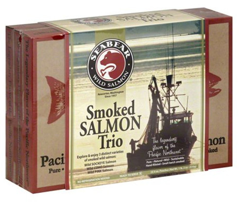 Smoked Wild Sockeye, Wild Coho & Wild Pink Salmon smoked in Anacortes, Washington