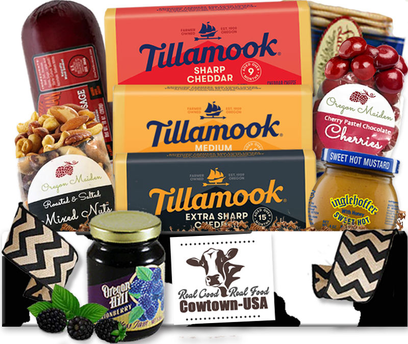 Meat and Tillamook Cheese Gift Baskets