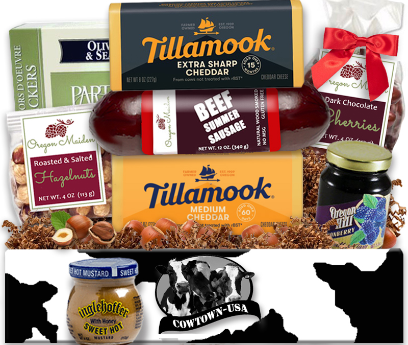 Tillamook Cheese & Meat Gift Baskets Made in Oregon