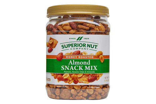 Honey Roasted Almonds Snack Mix, 28oz Jar