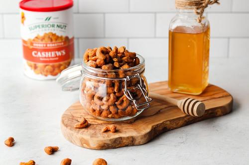 Honey Roasted Cashews, 8oz cans