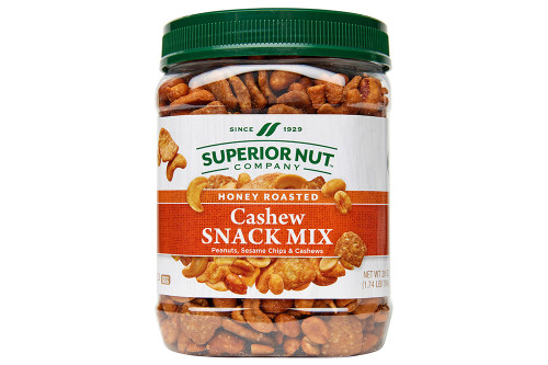 Honey Roasted Cashew Snack Mix, 28oz Jar