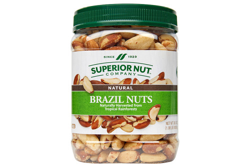 Natural Brazil Nuts, 30oz Jar