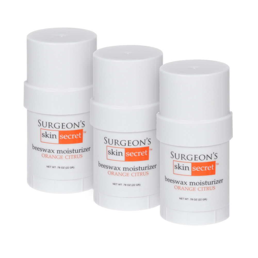 Surgeon's Skin Secret™ Beeswax Moisturizer  .78oz. Twist-up Stick (3 Pack) - Orange Citrus