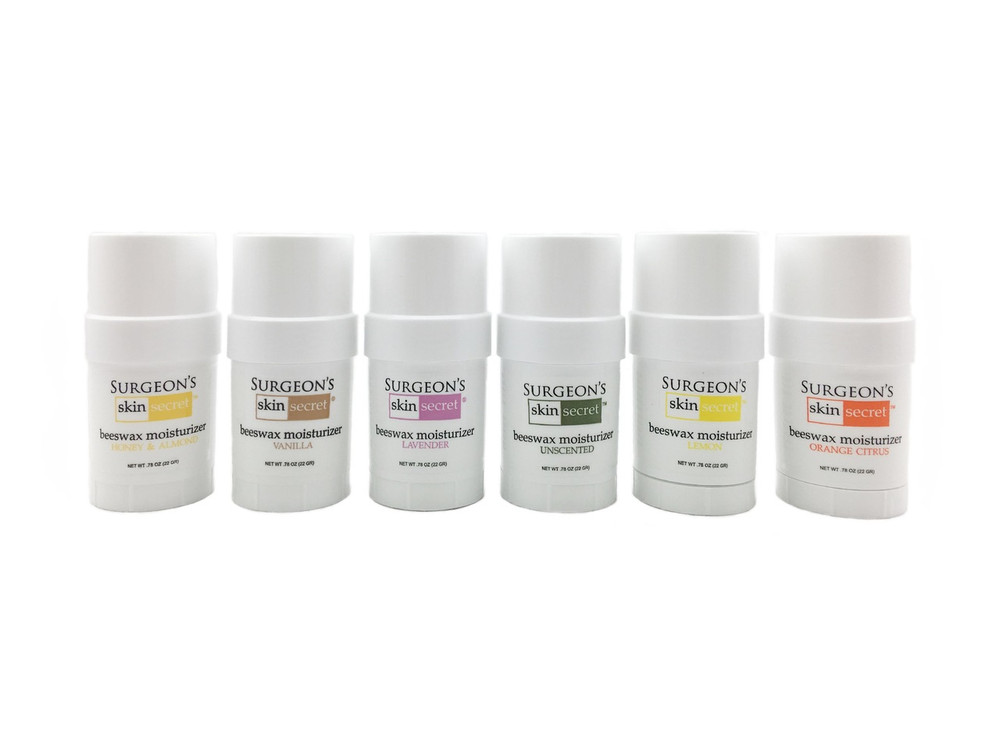 Surgeon's Skin Secret™ Beeswax Moisturizer .78 oz Twist-up Stick (6 Pack) - 8  Scents Available