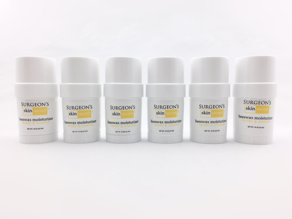 Surgeon's Skin Secret™ Beeswax Moisturizer .78 oz Twist-up Stick (6 Pack) - Honey & Almond
