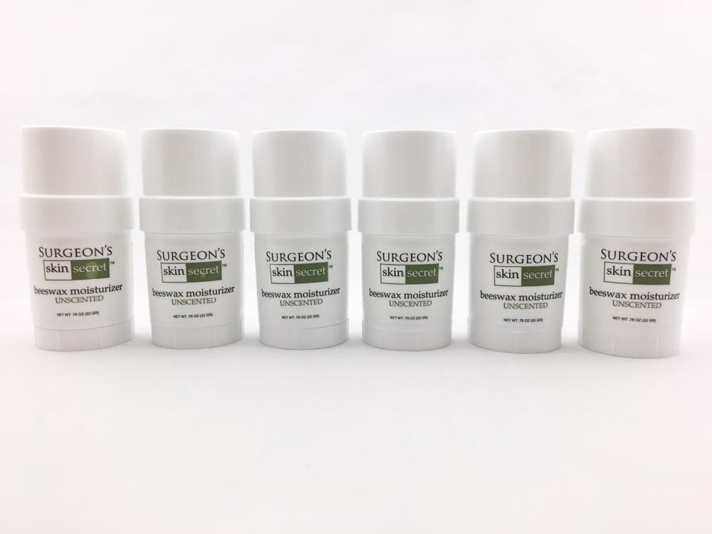 Surgeon's Skin Secret™ Beeswax Moisturizer .78 oz Twist-up Stick (6 Pack) - Unscented