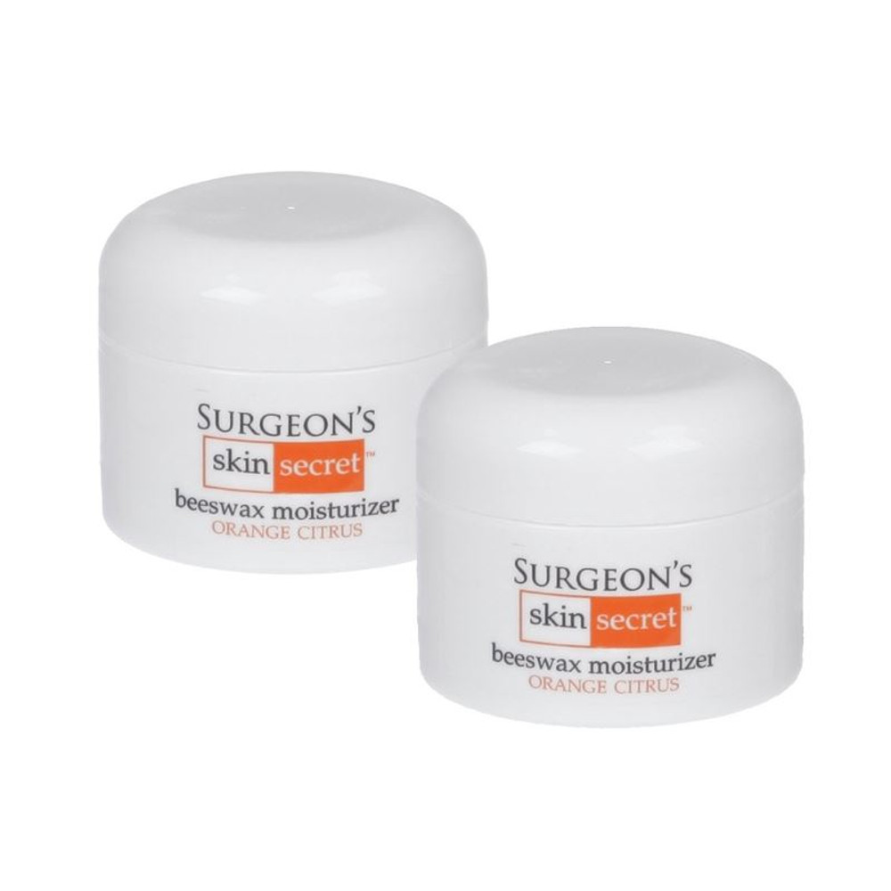 Surgeon's Skin Secret Beeswax Moisturizer Orange Citrus 1 Oz Jar (2 Pack)