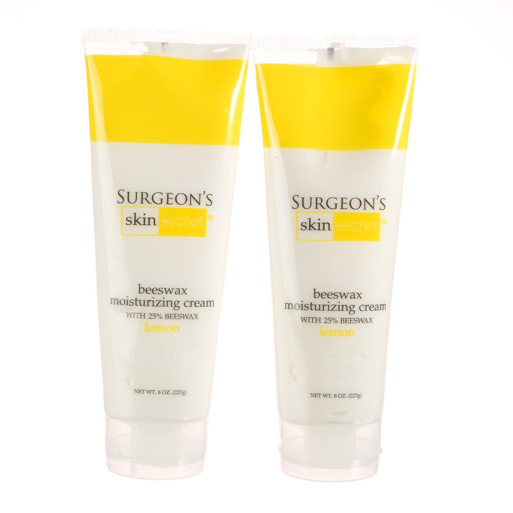 Surgeon's Skin Secret™ Beeswax Moisturizing Cream 8oz. Tube (2 Pack) - Lemon