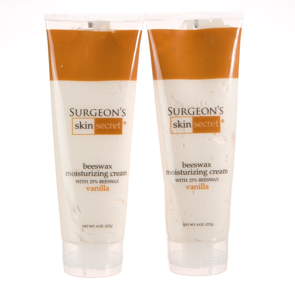 Surgeon's Skin Secret™ Beeswax Moisturizing Cream 8oz. Tube (2 Pack) - Vanilla
