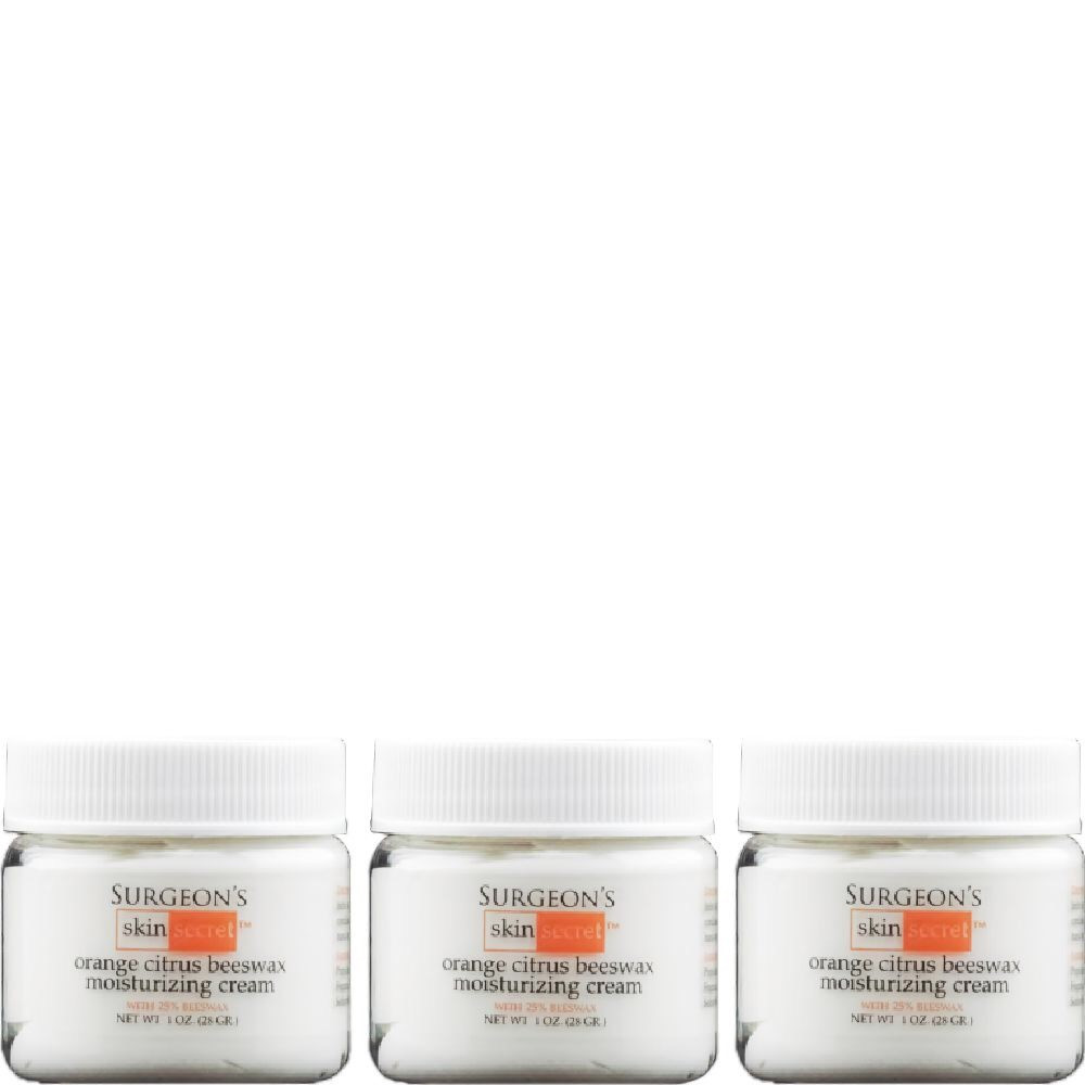 Surgeon's Skin Secret 25% Beeswax Cream 1 Oz Jar Orange Citrus (3 Pack)