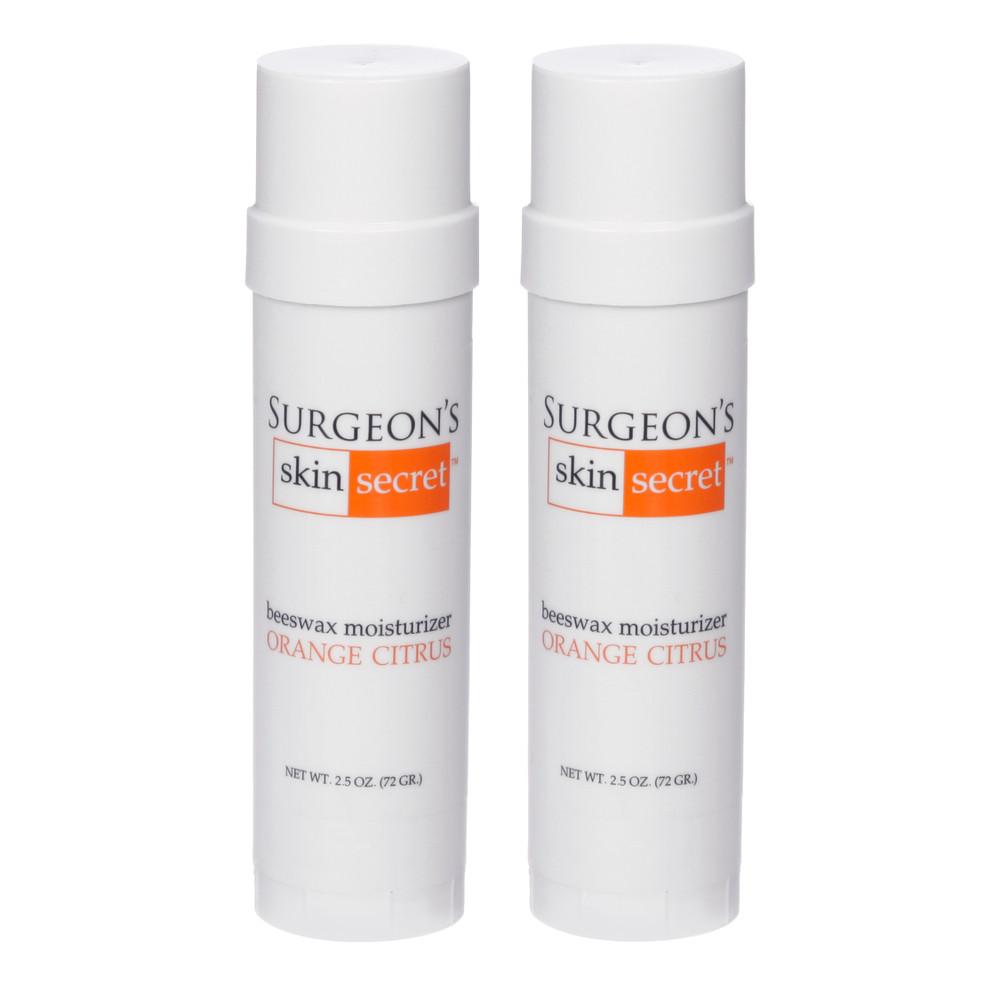 Surgeon's Skin Secret™ Beeswax Moisturizer  2.5oz. Twist-up Stick (2 Pack) - Orange Citrus