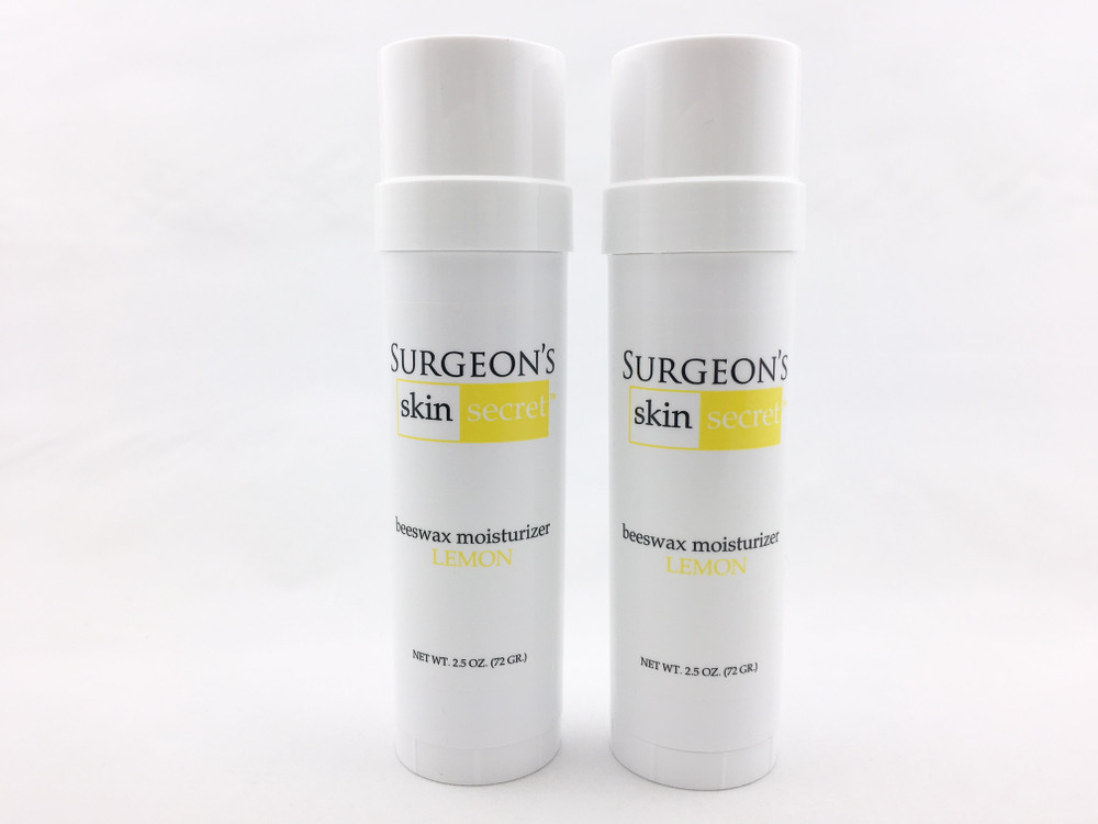Surgeon's Skin Secret™ Beeswax Moisturizer  2.5oz. Twist-up Stick (2 Pack) - Lemon