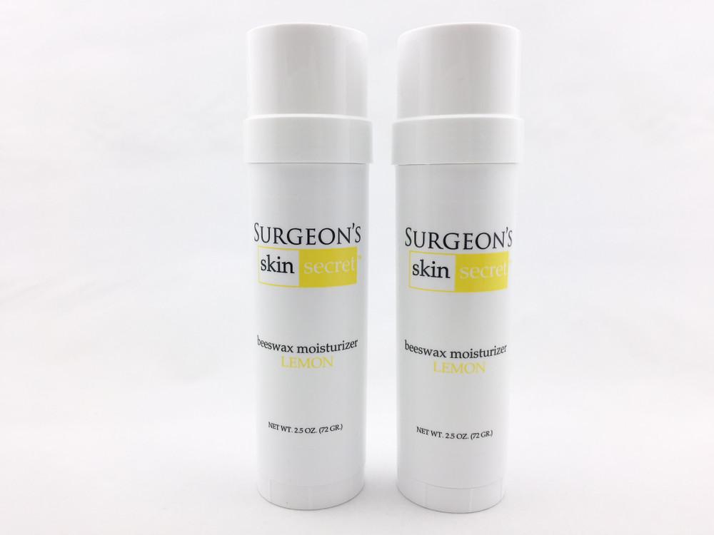 Surgeon's Skin Secret™ Beeswax Moisturizer  2.5oz. Twist-up Stick (2 Pack) - Lemon