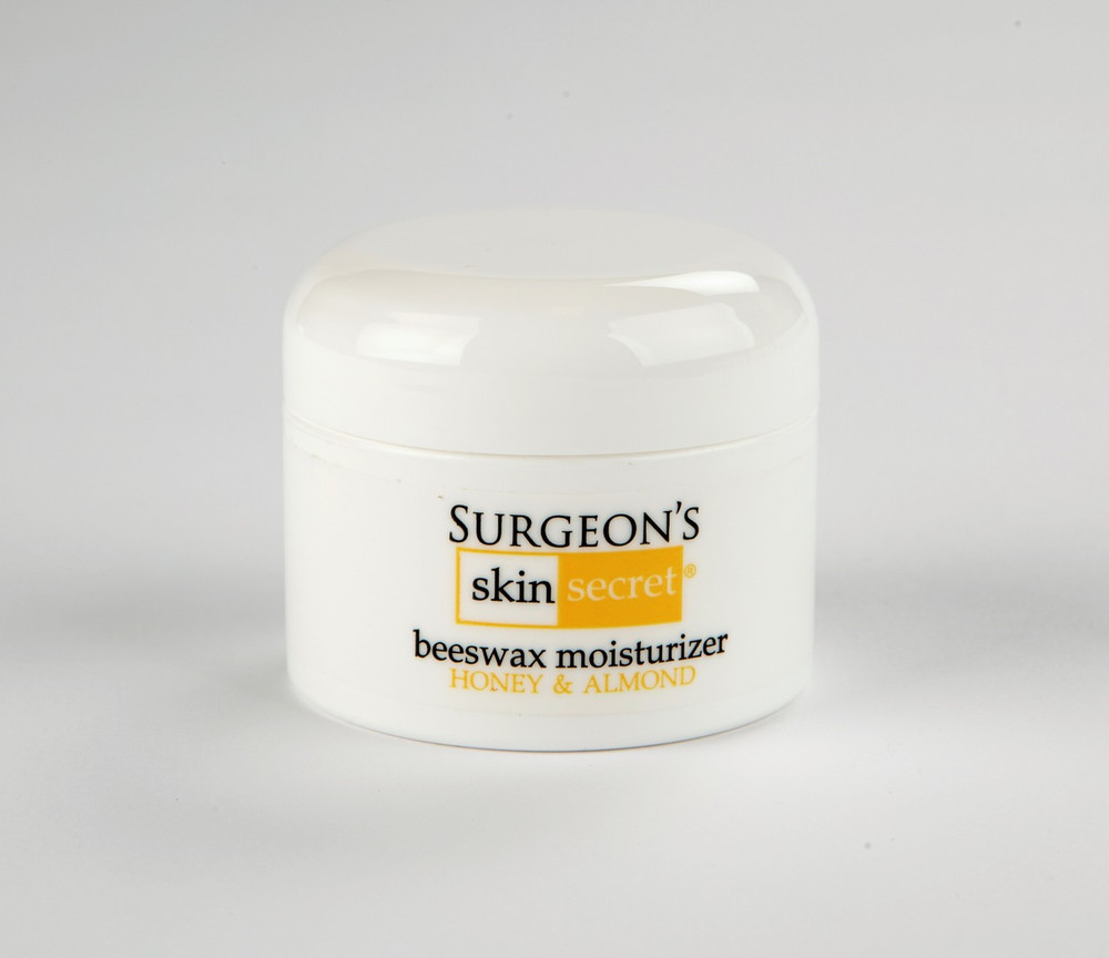 1 oz. Honey Almond Moisturizer   Natural Beeswax-based Moisturizer designed by a Surgeon for extremely dry, cracked and bleeding skin.  Great for eczema, and psoriasis related skin disorders also for dry skin itch.  The waterproof, moisture barrier heals skin without chemicals, steroids or alcohol.