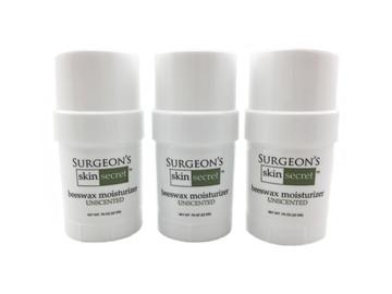 Surgeon's Skin Secret™ Beeswax Moisturizer  .78oz. Twist-up Stick (3 Pack) - Unscented