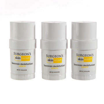 Surgeon's Skin Secret™ Beeswax Moisturizer  .78oz. Twist-up Stick (3 Pack) - Lemon