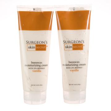 Surgeon's Skin Secret™ Beeswax Moisturizing Cream 8oz. Tube (2 Pack) - Vanilla