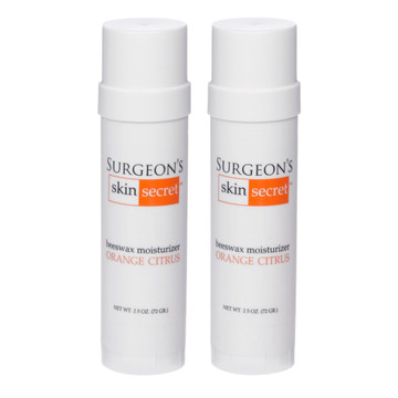 Surgeon's Skin Secret™ Beeswax Moisturizer  2.5oz. Twist-up Stick (2 Pack) - Orange Citrus