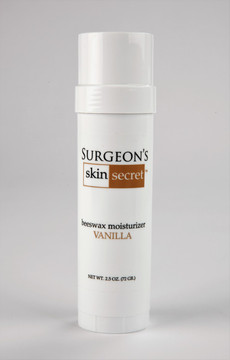 2.5 oz. Vanilla   Natural Beeswax-based Moisturizer designed by a Surgeon for extremely dry, cracked and bleeding skin.  Great for eczema, and psoriasis related skin disorders also for dry skin itch.  The waterproof, moisture barrier heals skin without chemicals, steroids or alcohol.