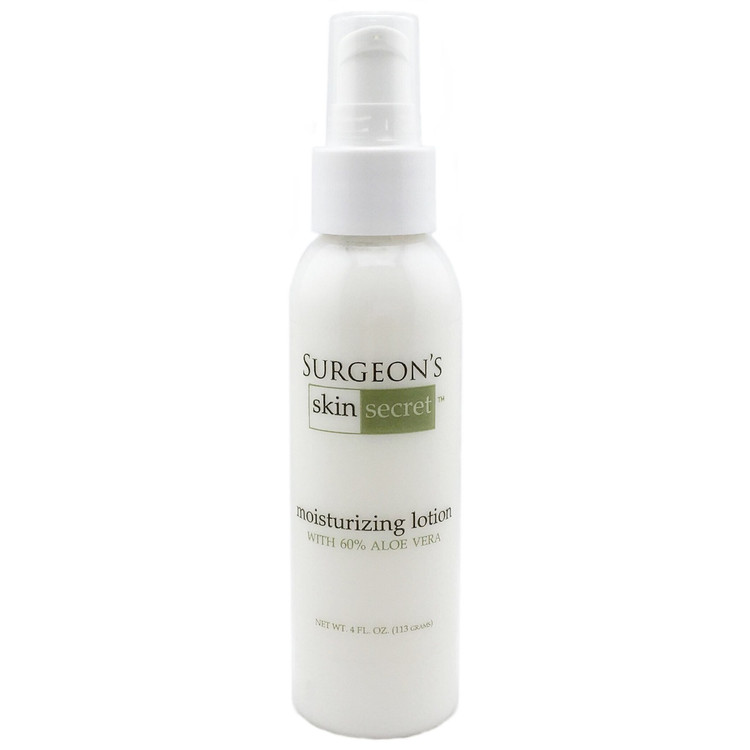 4 oz moisturizing lotion with 60% aloe vera