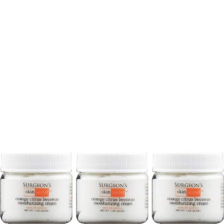 Surgeon's Skin Secret 25% Beeswax Cream 1 Oz Jar Orange Citrus (3 Pack)