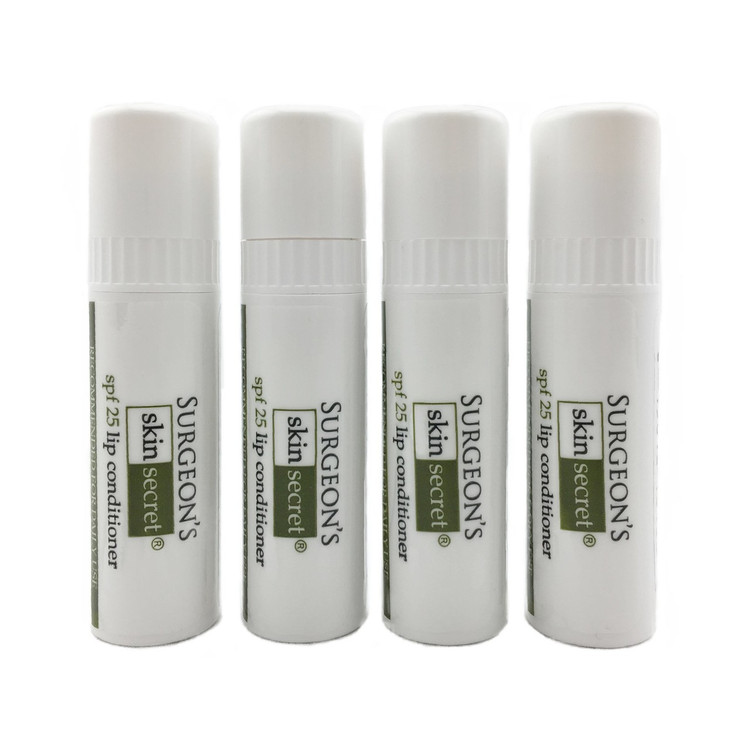 Surgeon's Skin Secret Beeswax Lip balm /SPF25 - Large .3 ounce container 4 pack