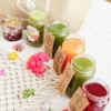 4 x Cold pressed juices per day, 1 x breakfast jar and 1 x detox soup