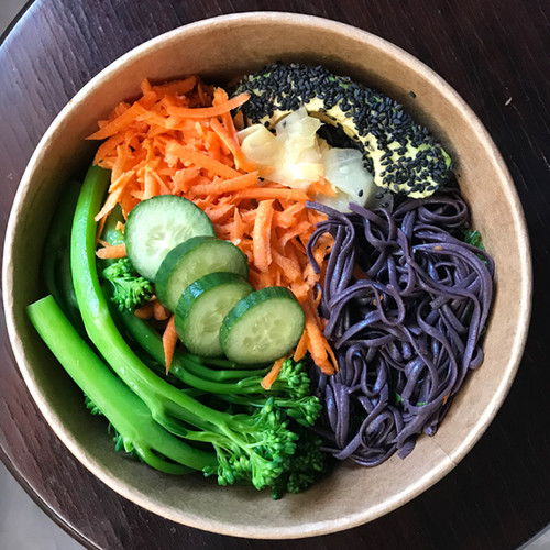 TERIYAKI BOWL WITH NOODLES + AVOCADO