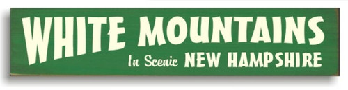 White Mountains Scenic Wooden Sign