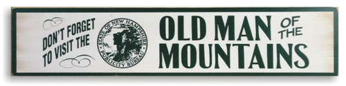 Old Man of the Mountains Wooden Sign