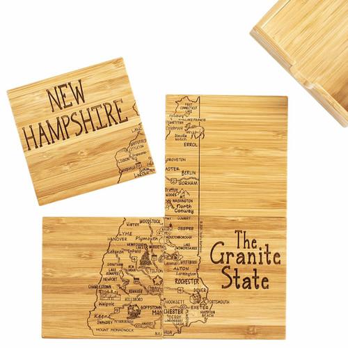 Coaster Puzzle Set/4 New Hampshire