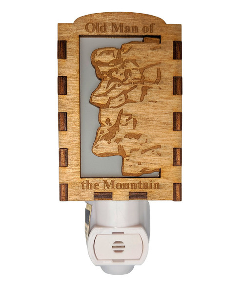 Wooden Night Lights - Old Man of the Mountains