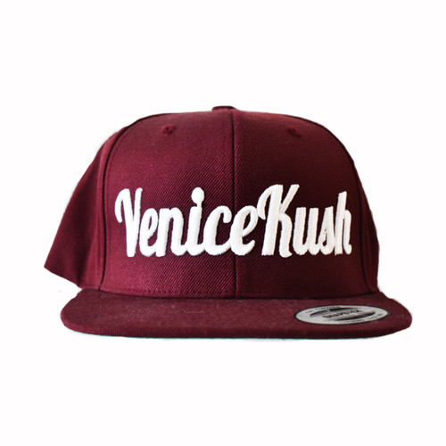 Venice Kush Burgundy Snap Back