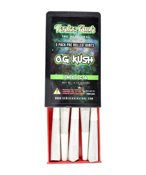 Venice Kush 5 Pack Pre Rolled Joints - OG Kush(3.7 Grams Total)
