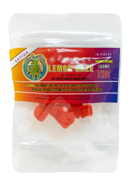 100mg Lemon Haze Delta 8 Gummies