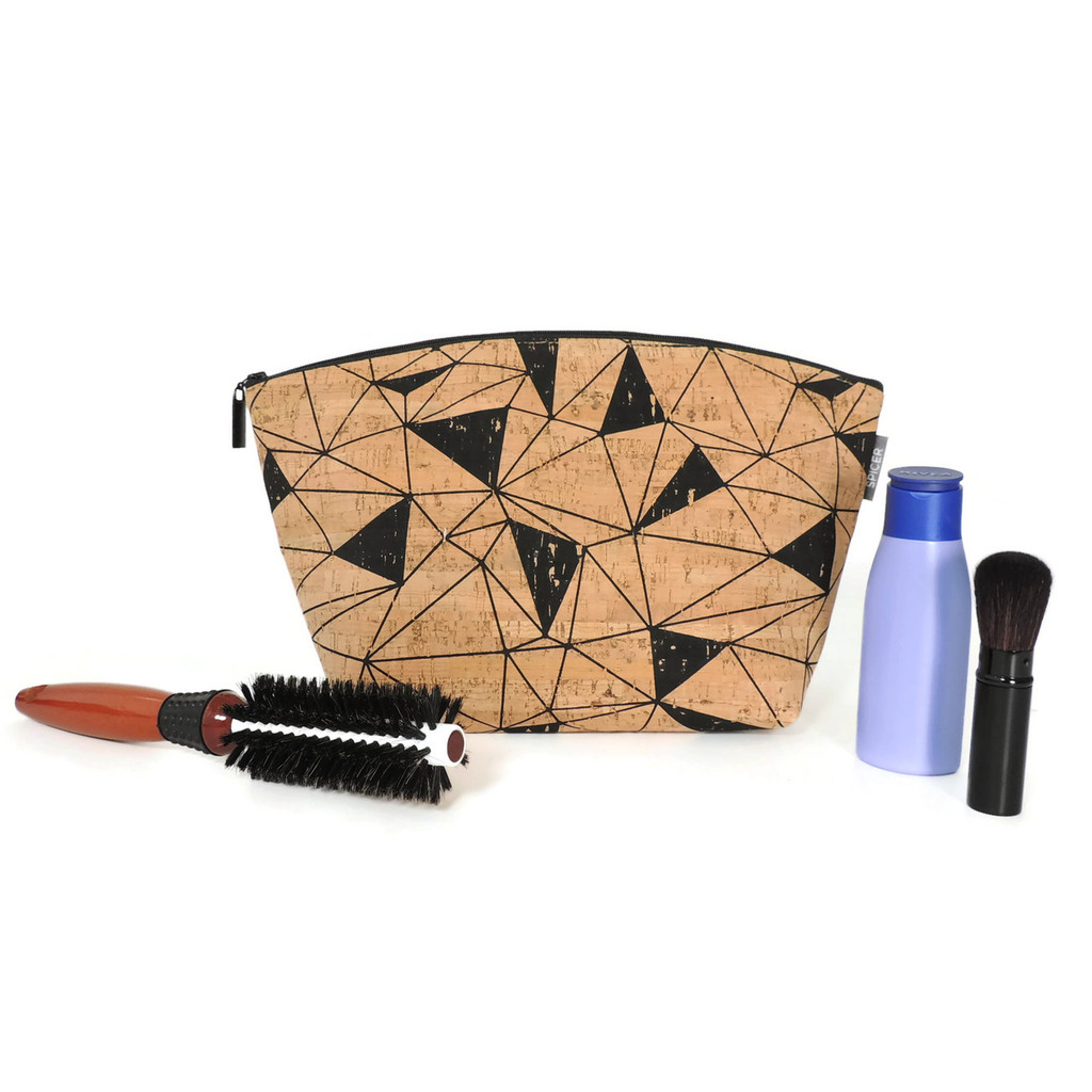 Large Standing Pouch in Geo Cork