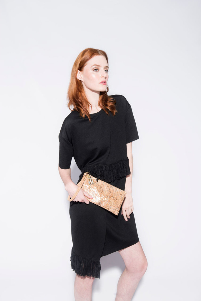 Wristlet in Metallic Pebble Cork - Limited Quantity available!
