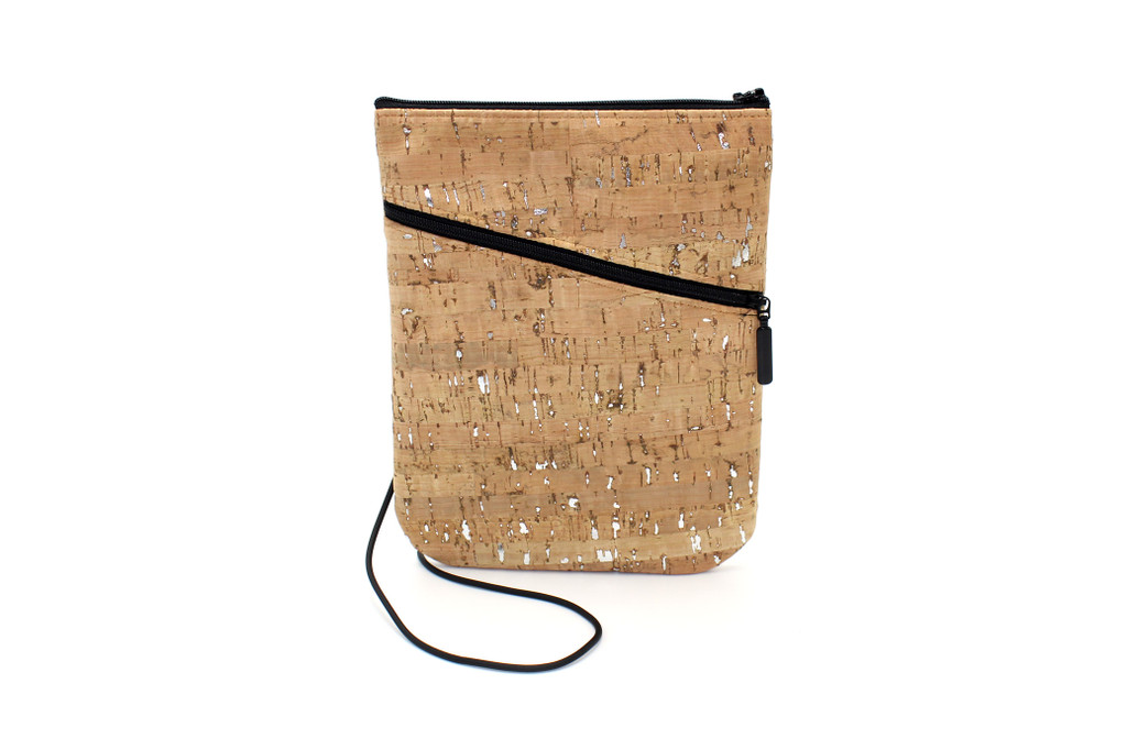 Social Bag in Natural  Cork with  Silver Fleck