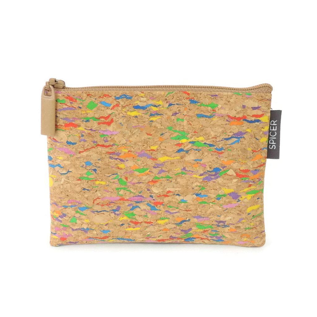 Cork Mini Pouch in Multicolor Cork