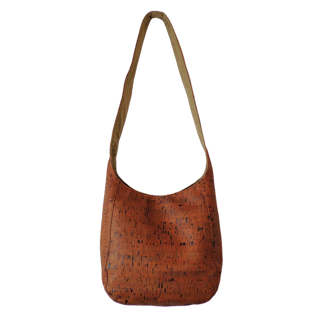 Sling Bag in Cork Dash Brown