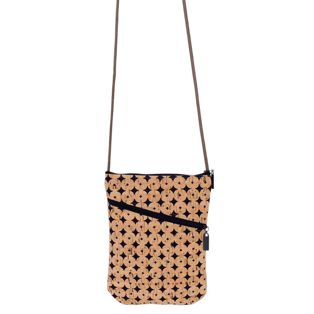 Social Bag in Navy Cork Dots