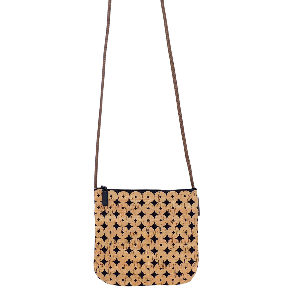 Sidekick in Navy Cork Dots