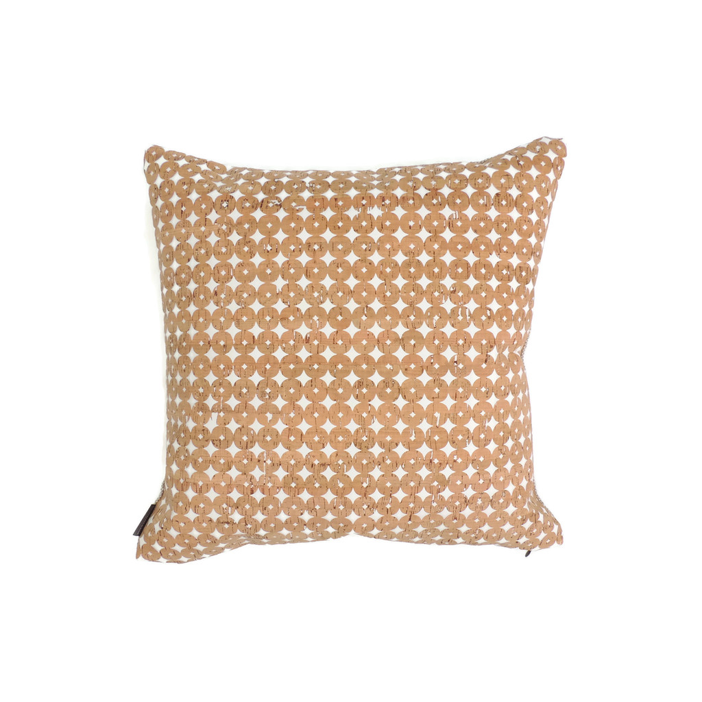 """18"""" by 18"""" Pillow Cover in Cork Dots"""