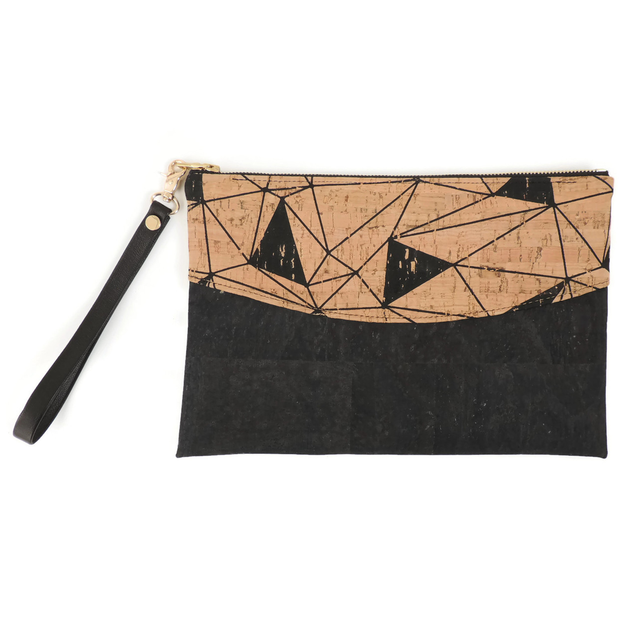 Smile Clutch in Geo Cork