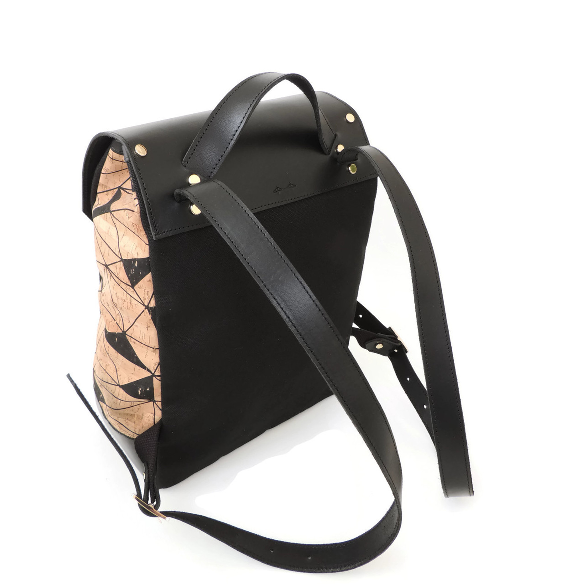 Cork & Leather Backpack in Geo Cork
