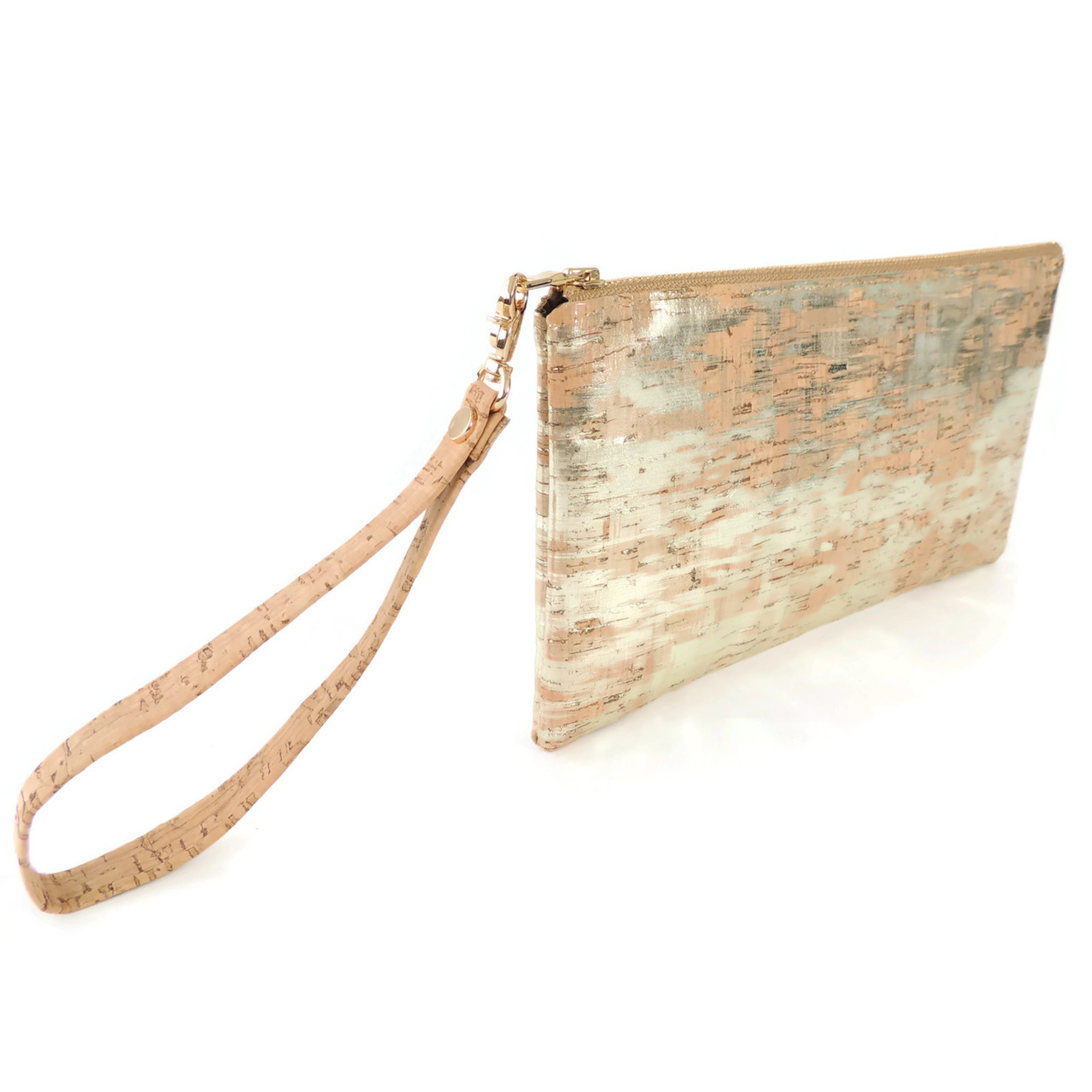 Wristlet in Brushed Gold Cork