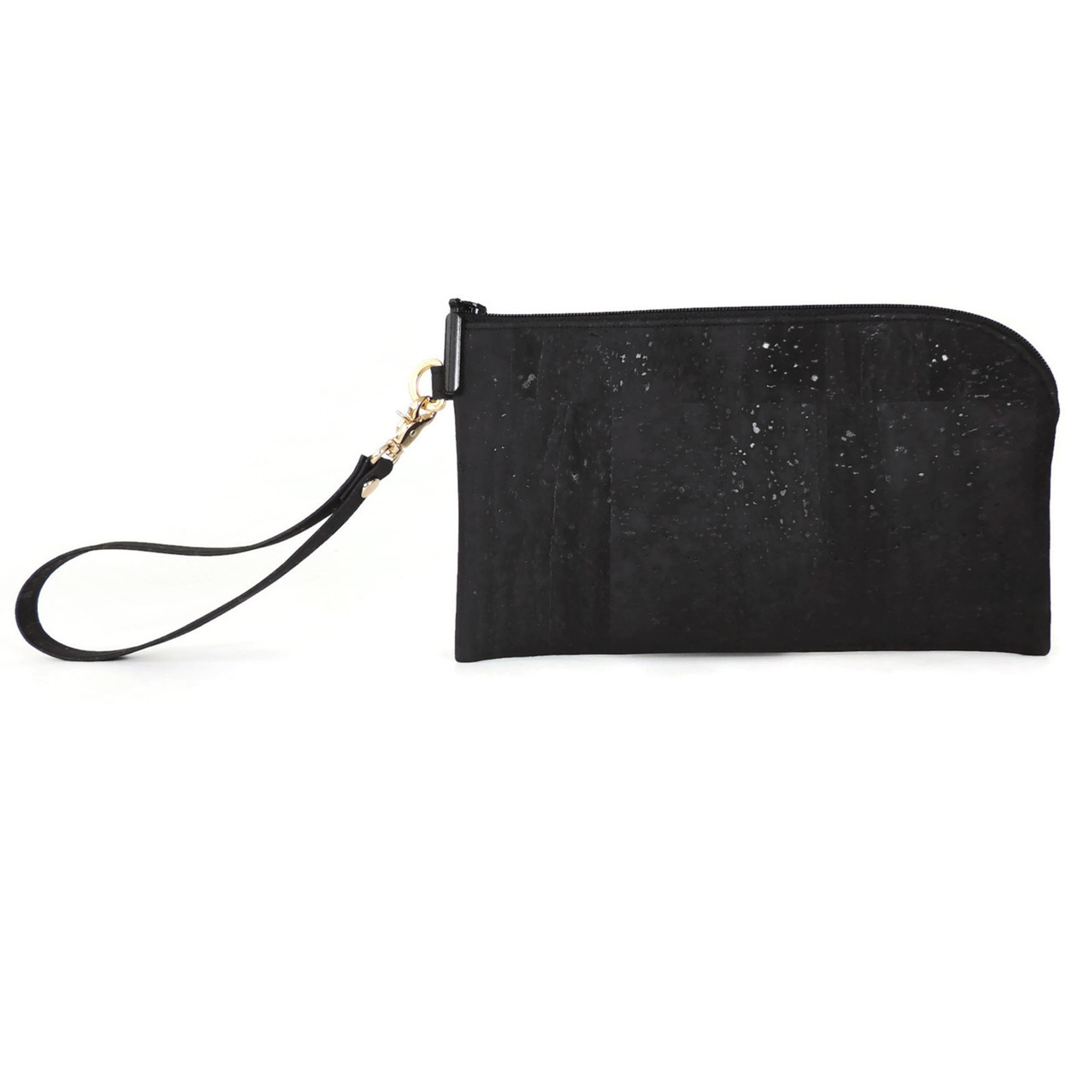 Phone Wristlet in Black Cork