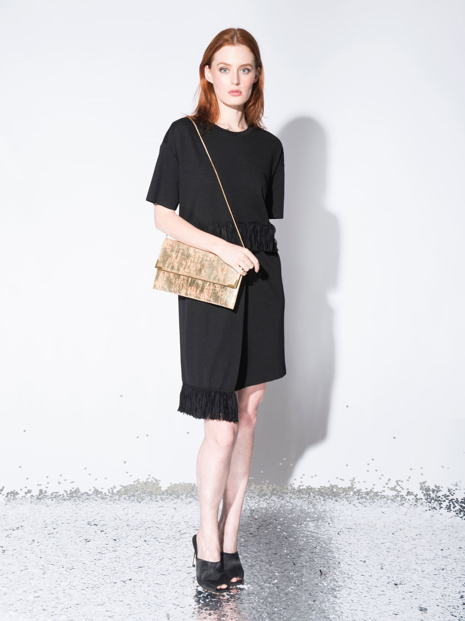 Folio Clutch in White Cork