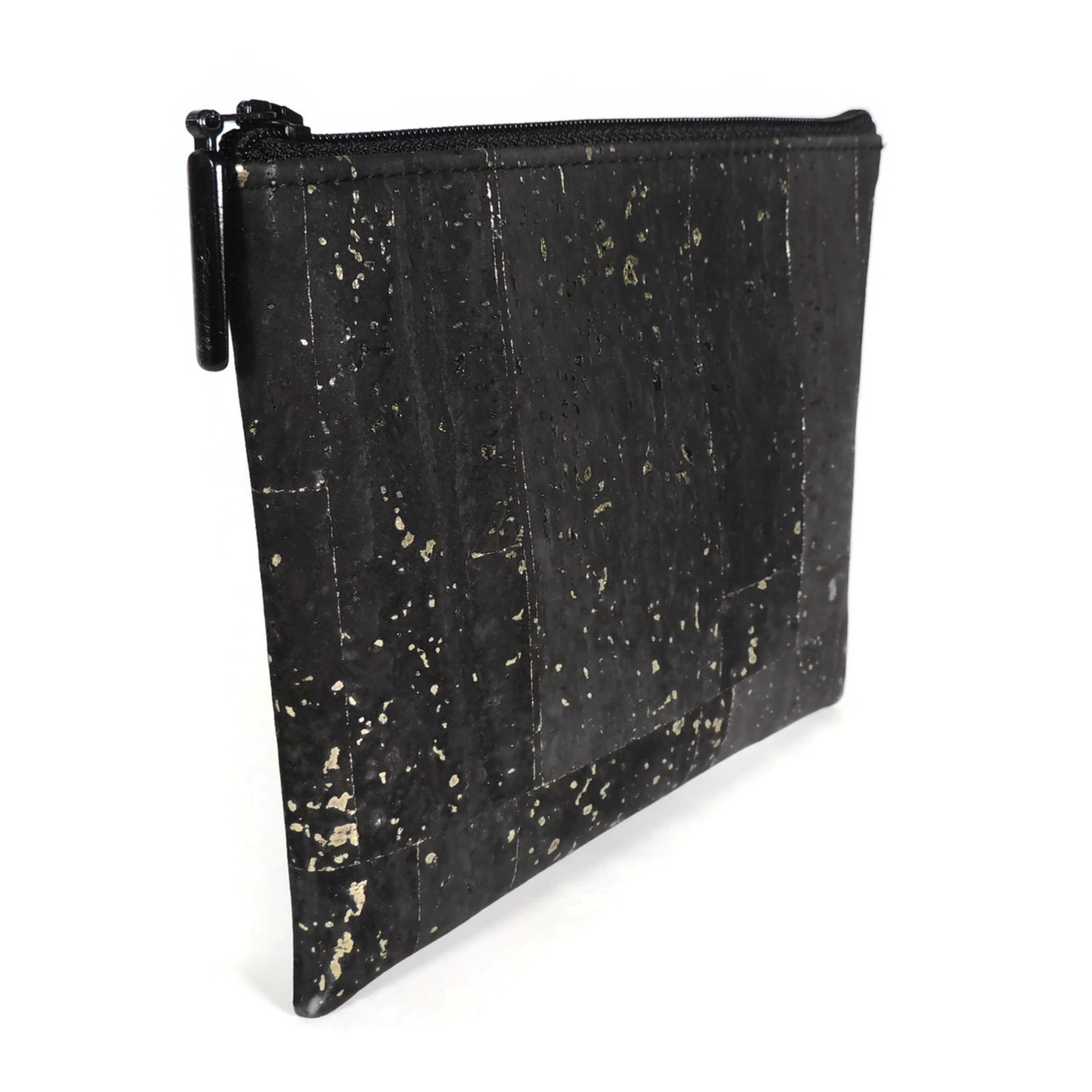 Pouch in Black and Gold Cork
